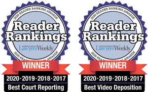 MLW Reader Rankings 2020 Best Court Reporting and Best Video Deposition